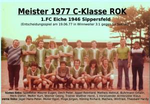 FC Eiche 1977- Meistermannschaft C-Klasse