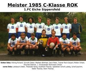 FC Eiche 1985- Meistermannschaft C-Klasse
