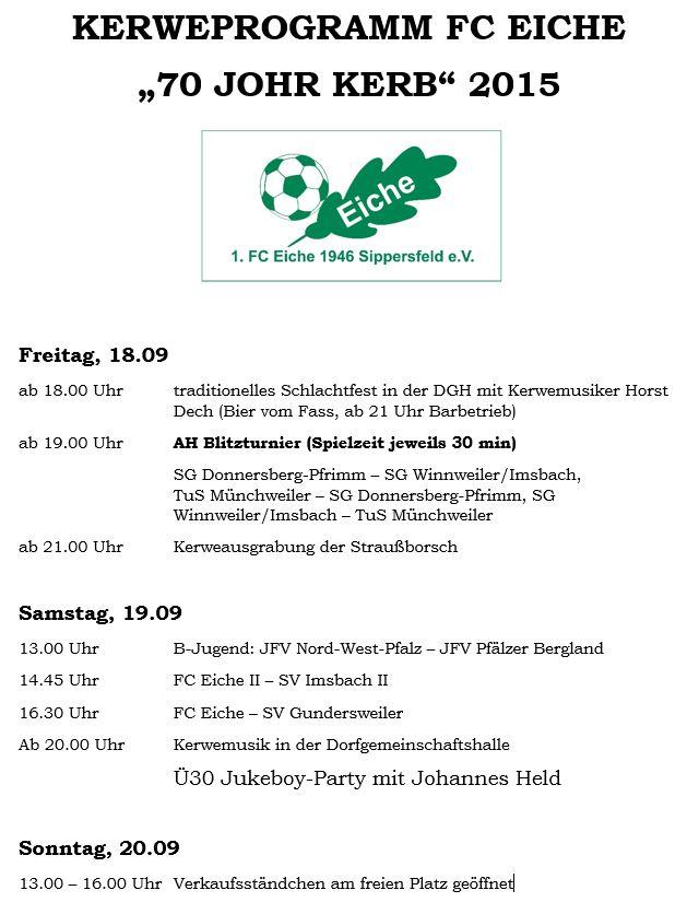 Kerweprogramm 2015